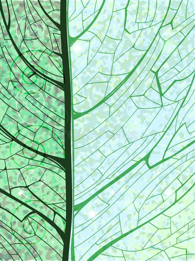 Fond vertical vert tiré par la main avec la feuille illustration libre de droits