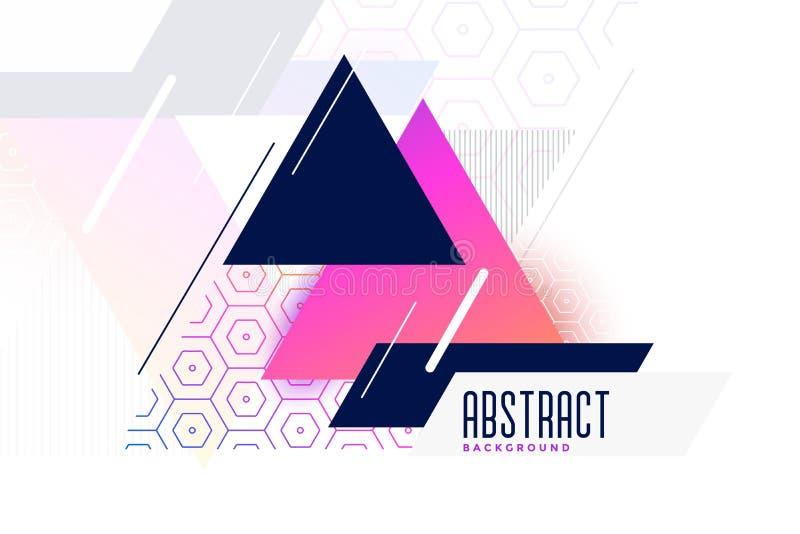 Fond vibrant abstrait de triangle de Memphis illustration de vecteur