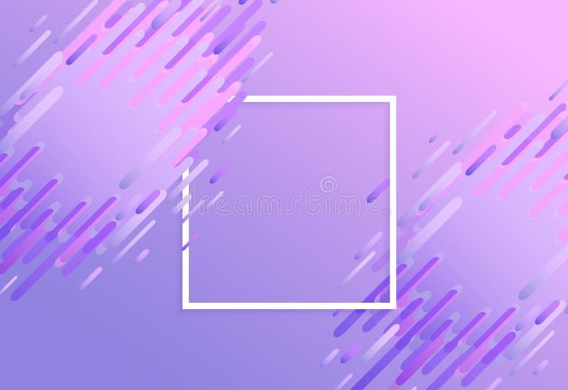 Fond vibrant glitched à la mode de gradient de vecteur illustration de vecteur