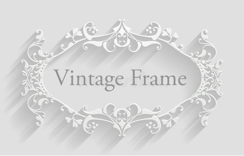 Fond victorien de cadre de vintage illustration stock