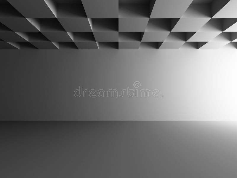 Fond vide de conception de chambre noire photo stock