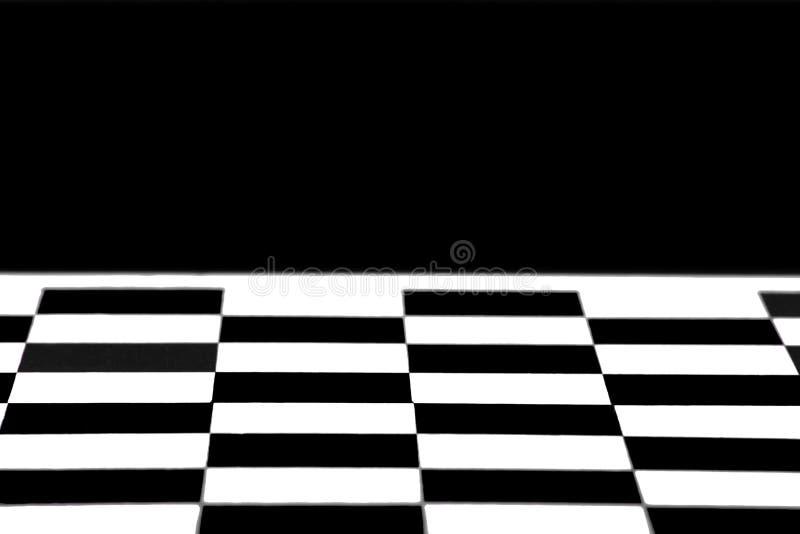 Fond vide de modèle d'échiquier, fond noir photos stock