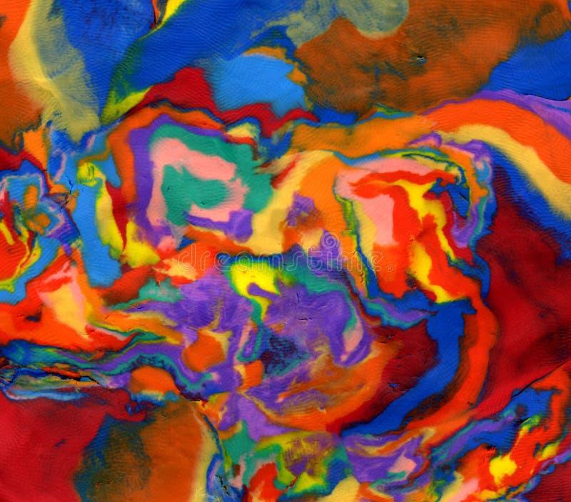 Fond vif lumineux de couleurs de pâte à modeler photo stock