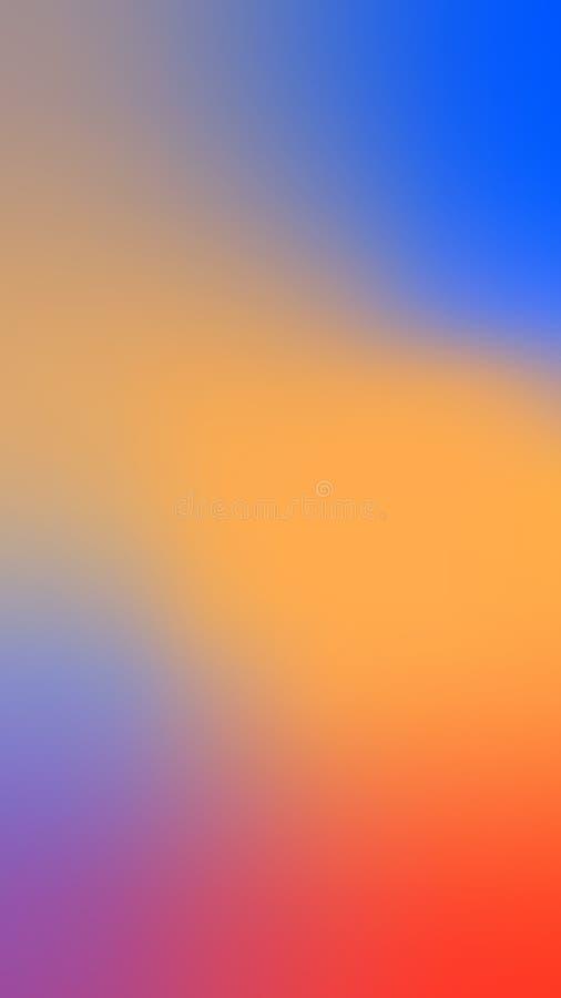 Fond vif vide de couleur Texture colorée abstraite spectrale brouillée illustration stock