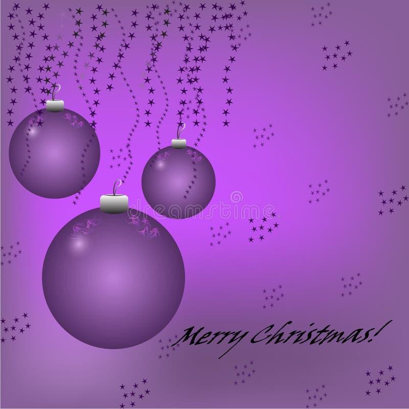 Fond Violet De Noël Avec Des Boules, Des étoiles Et Le Texte Photo ...