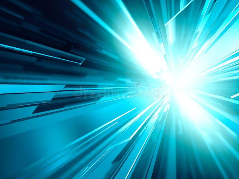 Fond virtuel de bleu d'abrégé sur tecnology illustration libre de droits