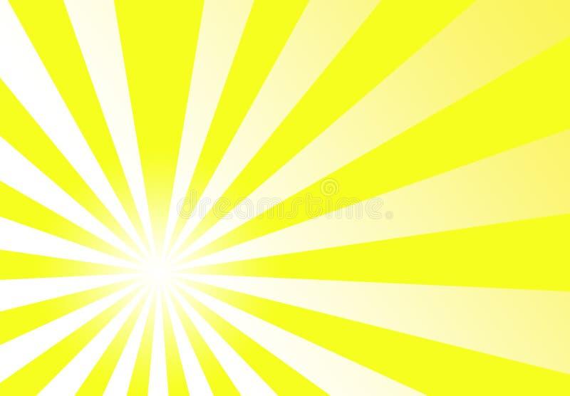 Fond Wallpape d'abrégé sur jaune d'orientation de rayon de soleil illustration stock