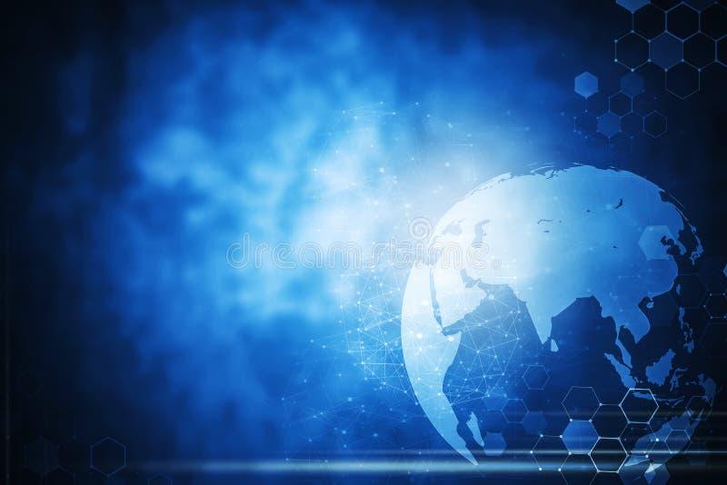 Fond woreless global de technologie de connexion réseau illustration de vecteur