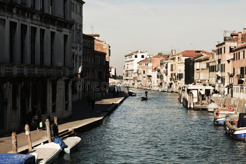 Fondamenta de Canaregio, Venise, Italie, l'Europe image stock