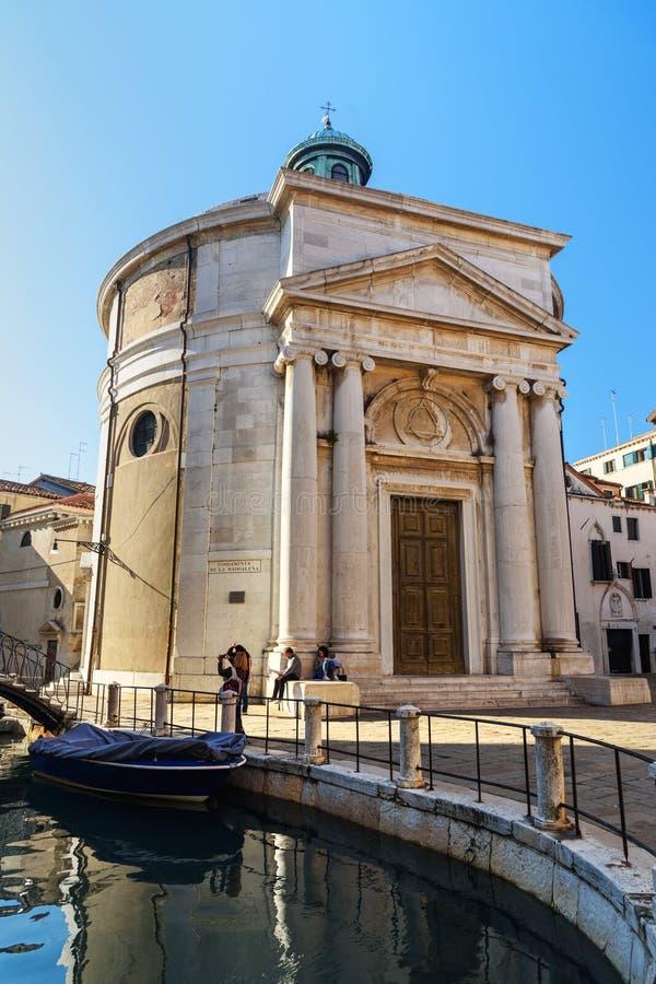 Fondamenta Della Maddalena är kyrklig i Venedig italy royaltyfria bilder