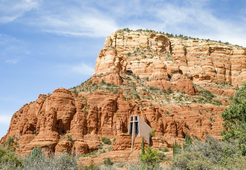 Fondamento costante - chiesa del Sedona inter- santo, Arizona immagine stock libera da diritti