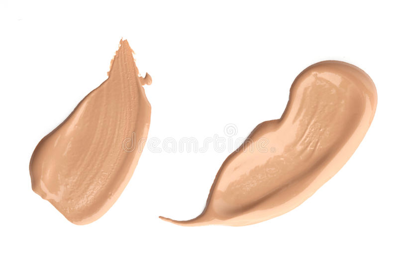 Fondamento liquido cosmetico, concealer fotografia stock