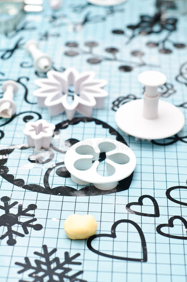 Fondant Decorations Tools Stock Image