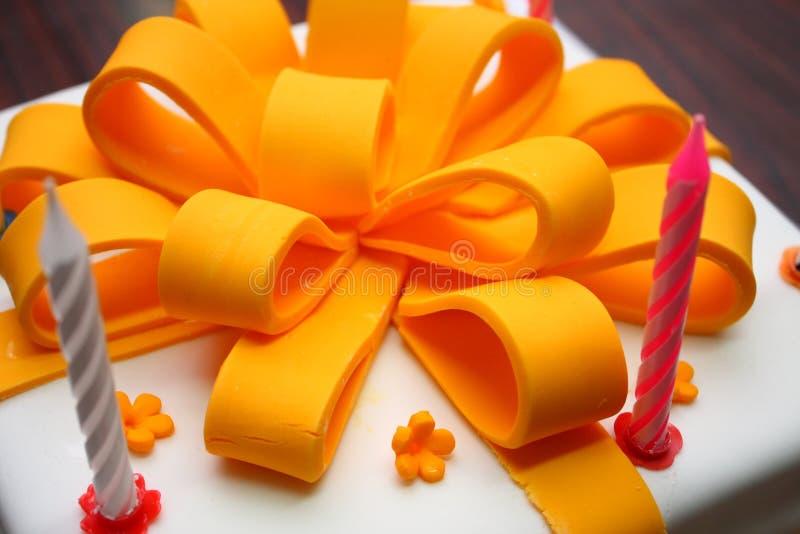 Fondant Gift Cake stock photo