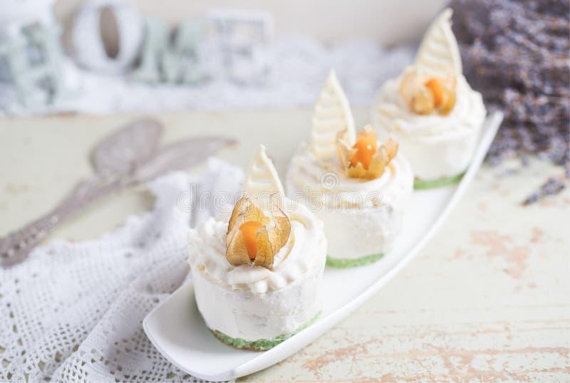 Fondant lava cake with strawberries jam. Selective focus. Restaurant dessert menu background stock photo