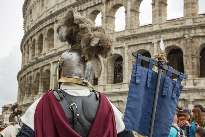 Fondare di Roma: parata tramite le vie di Roma fotografia stock libera da diritti
