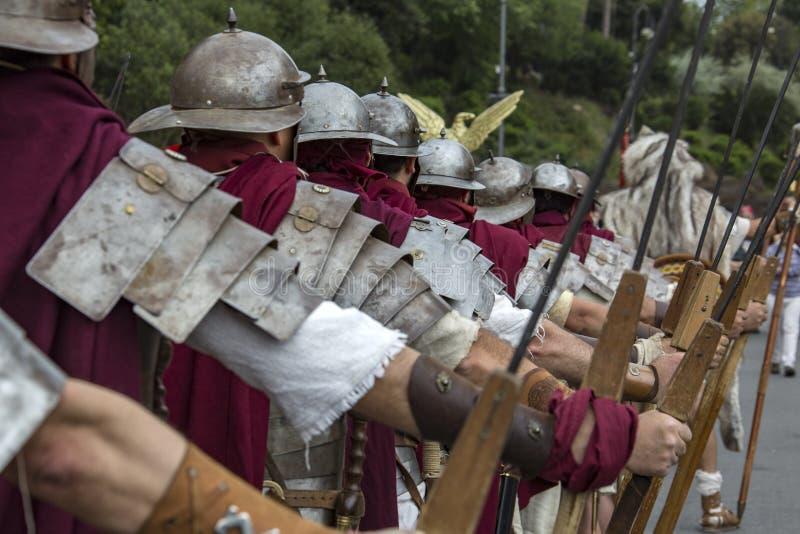 Fondare di Roma: parata tramite le vie di Roma immagini stock libere da diritti