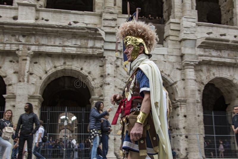 Fondare di Roma: parata tramite le vie di Roma immagine stock libera da diritti