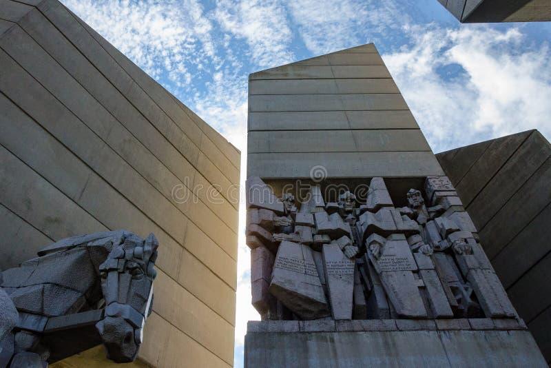 Fondateurs de monument de l'état bulgare images libres de droits