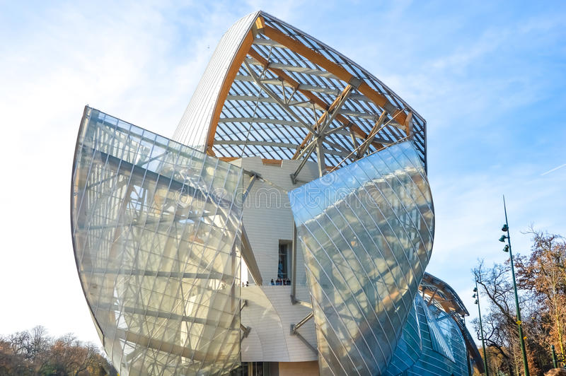 Fondation louis vuitton royalty-vrije stock foto