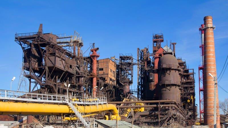 "Fonderia di ferro di JSC ""Satkinsky "" Vecchia fabbrica in Satka fotografia stock libera da diritti"