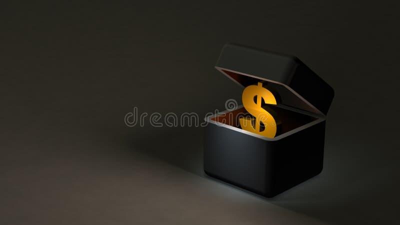 Fondi di buio da immagazzinare in economia sommersa illustrazione di stock