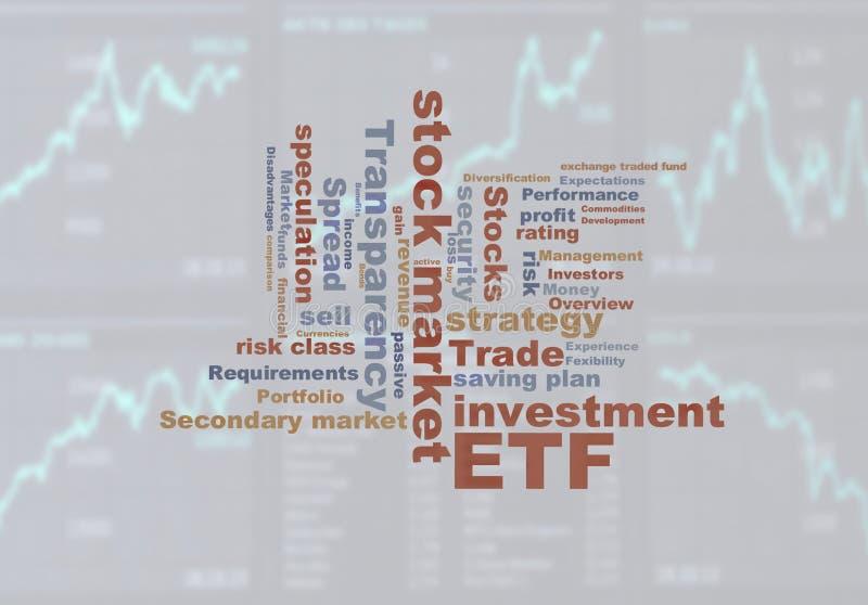 Fondi di commerci di scambio di ETF royalty illustrazione gratis