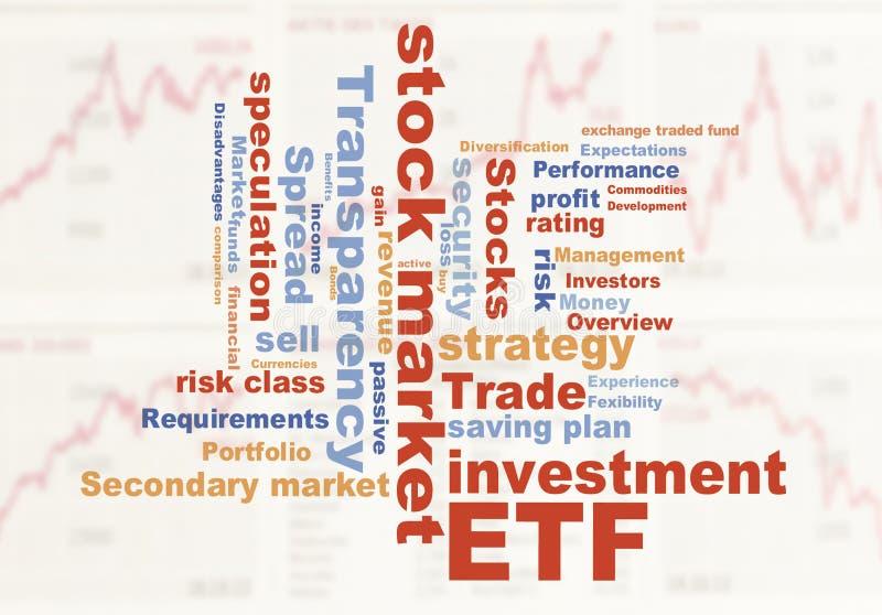 Fondi di commerci di scambio di ETF illustrazione di stock