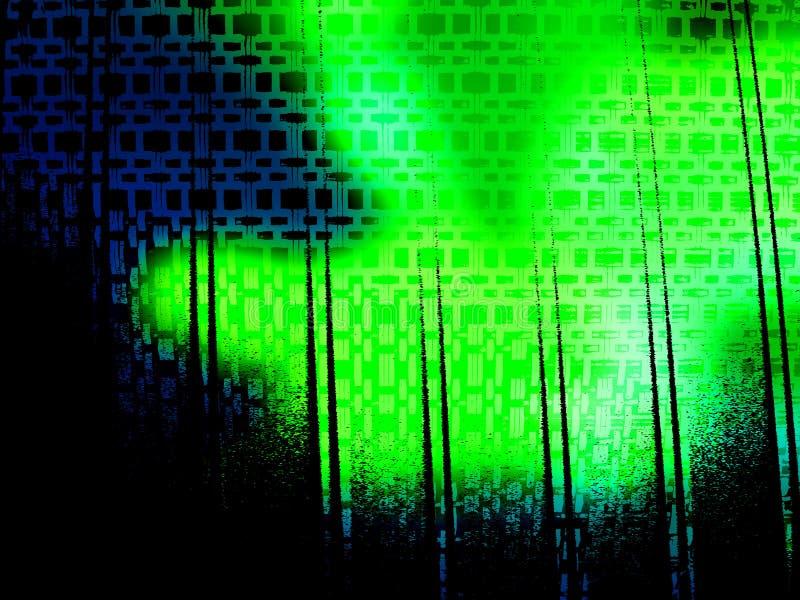 Fondo ácido de Grunge del verde azul ilustración del vector