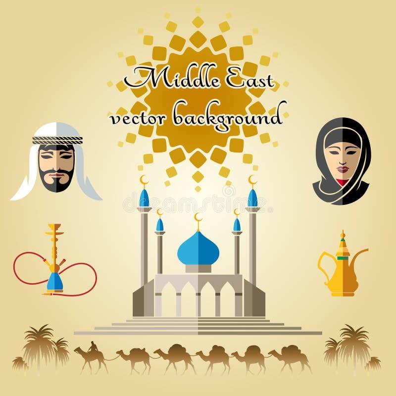 Fondo árabe del vector libre illustration