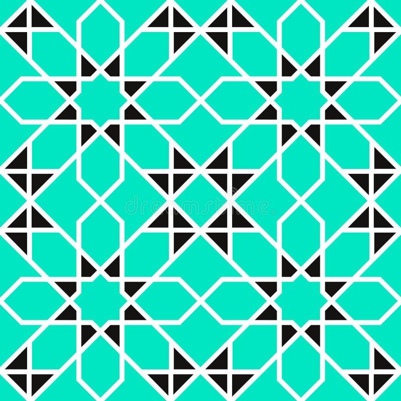 Fondo árabe Modelo inconsútil del vector geométrico islámico Texturas florales del vector en estilo del este Decoración asiática  stock de ilustración