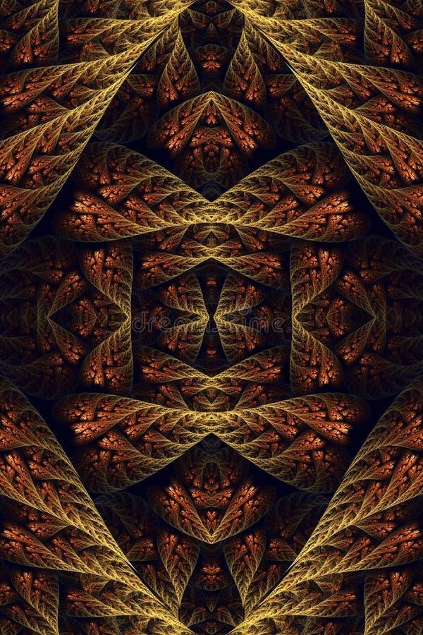 Fondo único artístico generado por ordenador de las ilustraciones de los modelos del fractal del vintage del extracto 3d viejo libre illustration