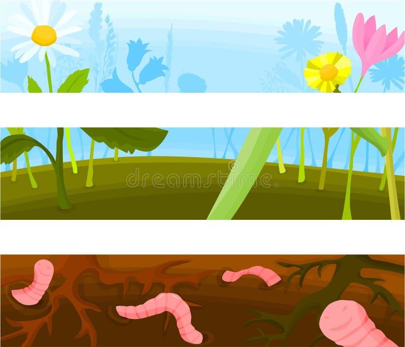Fondo 03 de la cabecera ilustración del vector