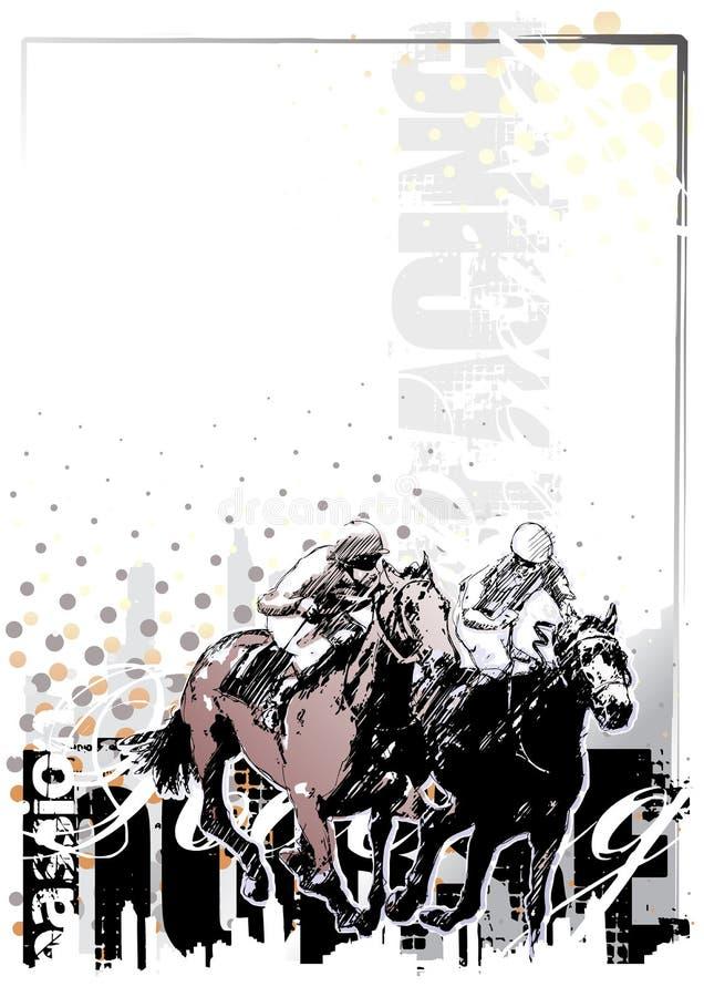 Fondo 1 de la carrera de caballos ilustración del vector