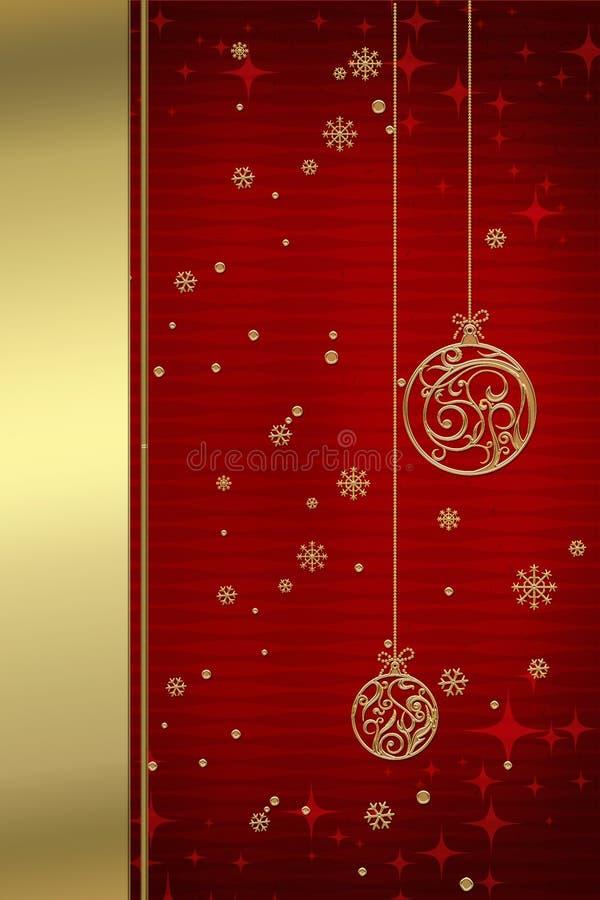 Fondo 1 de la Navidad ilustración del vector