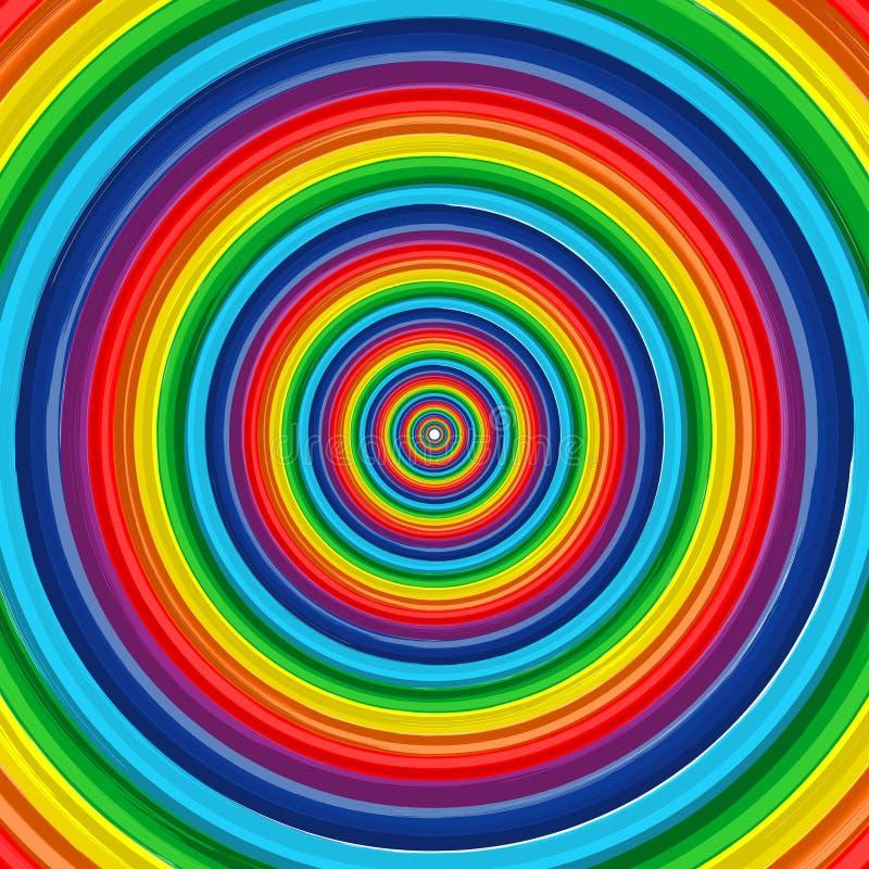 Fondo 10 del vector del extracto del círculo del arco iris del arte stock de ilustración