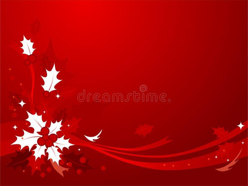 Fondo #2 del acebo de la Navidad stock de ilustración