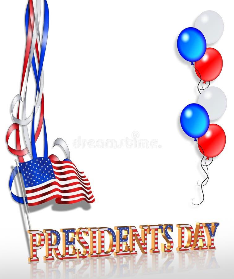 Fondo 2 del día de los presidentes ilustración del vector
