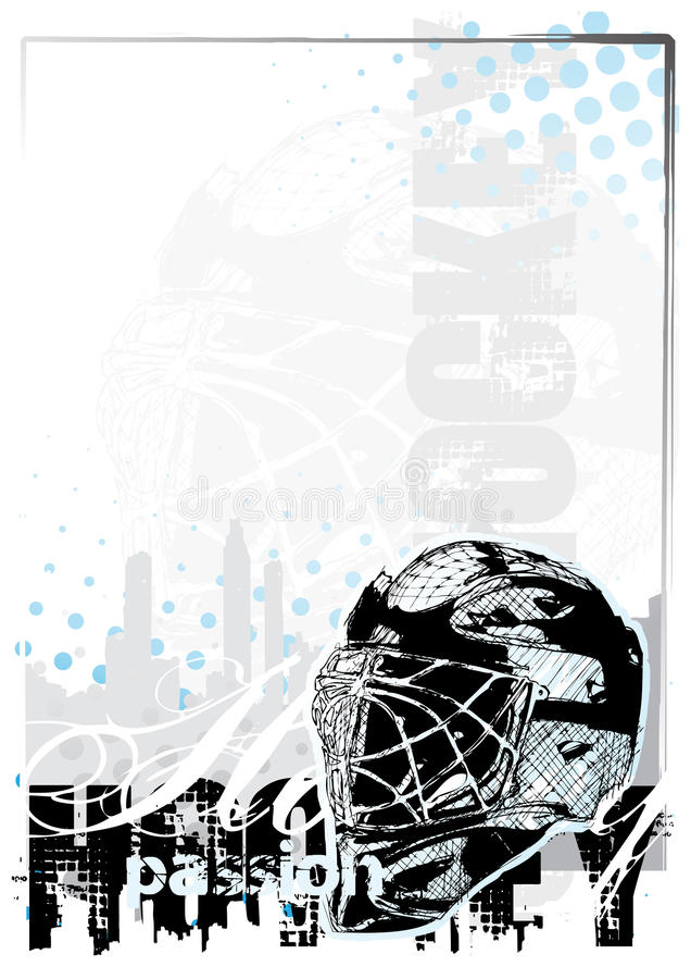 Fondo 2 del hockey sobre hielo stock de ilustración