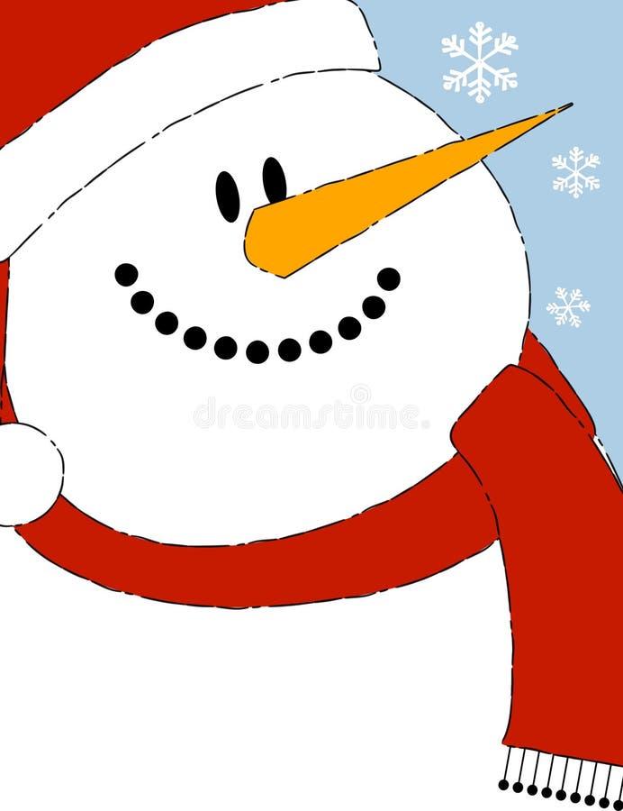 Fondo 2 del muñeco de nieve stock de ilustración