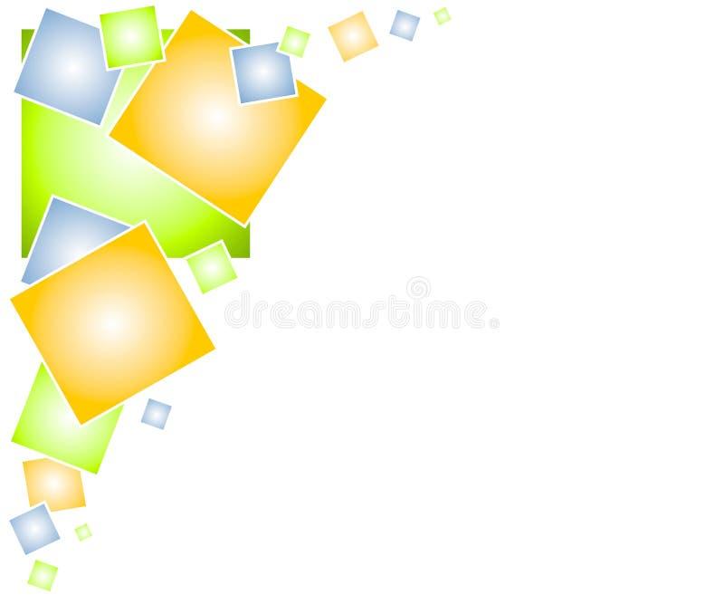 Fondo 2 del Web page de los cuadrados stock de ilustración