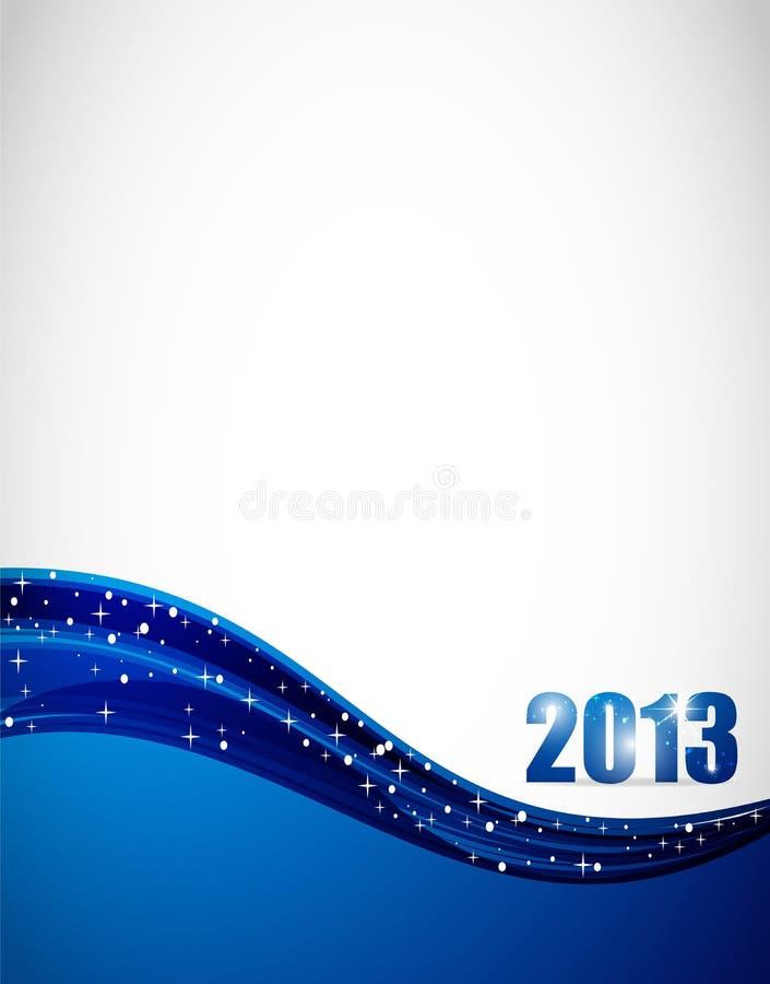 fondo 2013 ilustración del vector