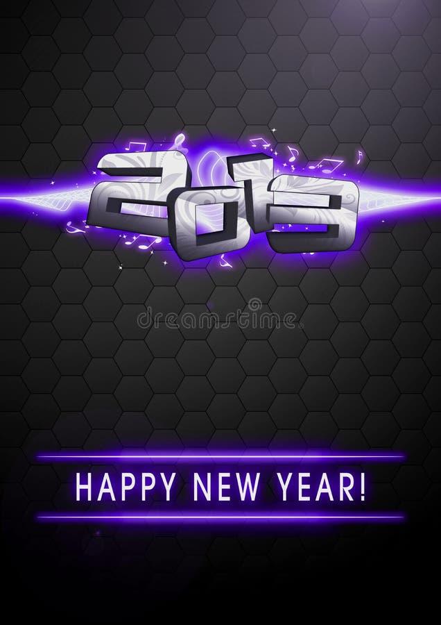 Fondo 2013 de la Feliz Año Nuevo ilustración del vector