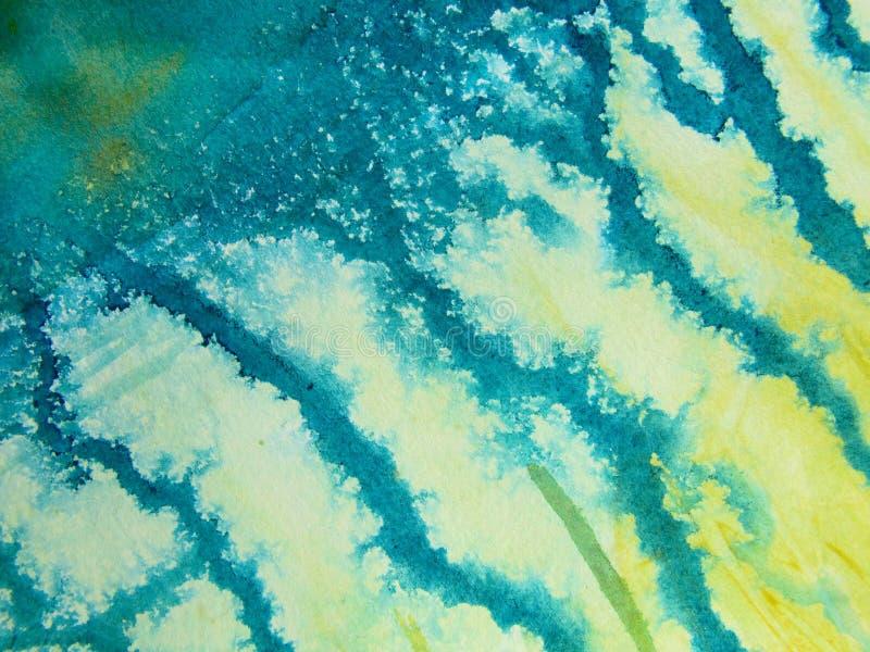 Fondo 3 de la acuarela del Aqua fotos de archivo libres de regalías