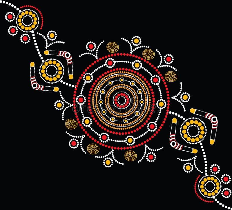 Fondo aborigen del vector del arte ilustración del vector