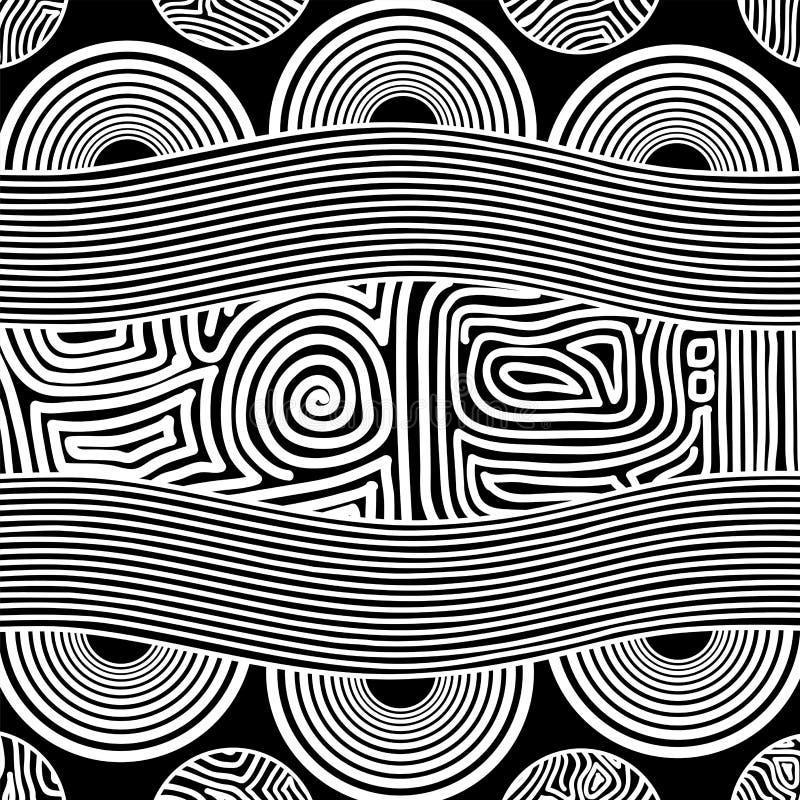 Fondo aborigen del vector del arte stock de ilustración