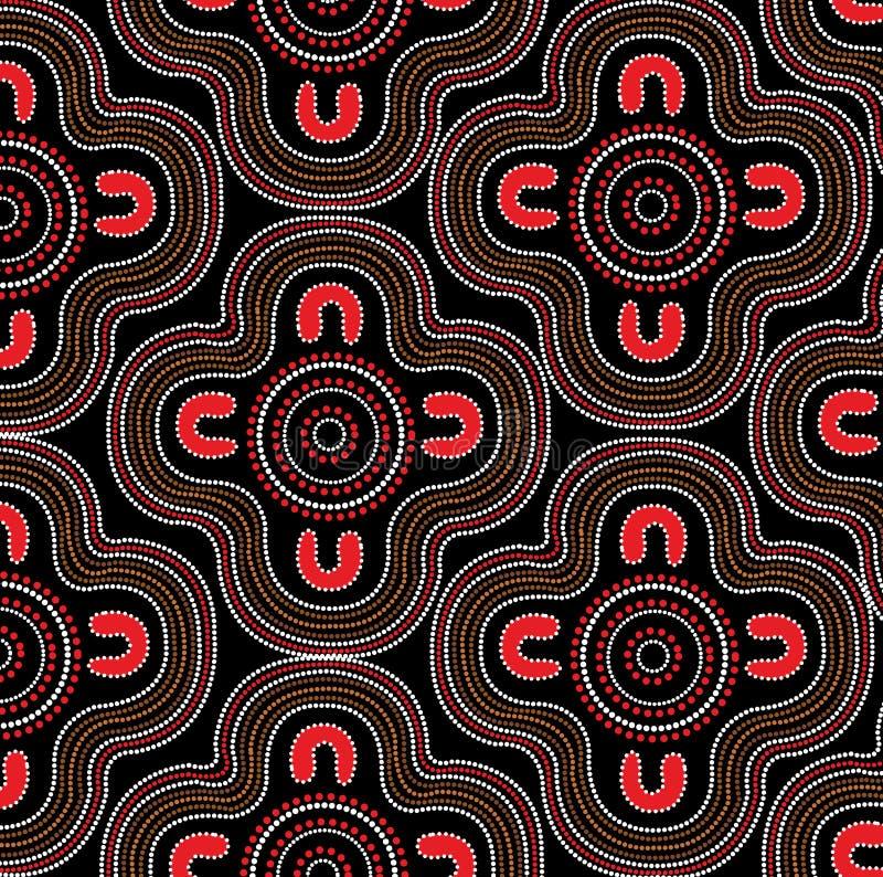Fondo aborigeno di vettore di arte illustrazione di stock