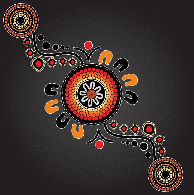 Fondo aborigeno di vettore di arte illustrazione vettoriale