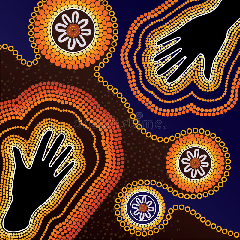 Fondo aborigeno di vettore di arte royalty illustrazione gratis
