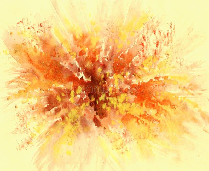 Fondo abstracto, acuarela ilustración del vector